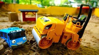 Мультфильмы для детей— Тайо, новая серия— Приключения Тайо впесочнице— Строим город изпеска