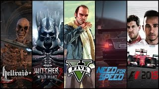 Обзор новинок игр Need for speed, GTA 5, Hellraid, Ведьмак 3, F1 2015