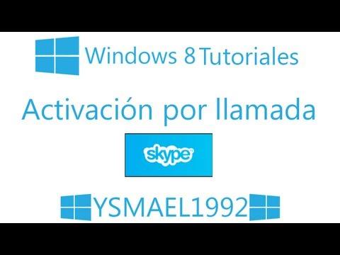 Por fin pude activar windows 8 por skype (Tutorial)