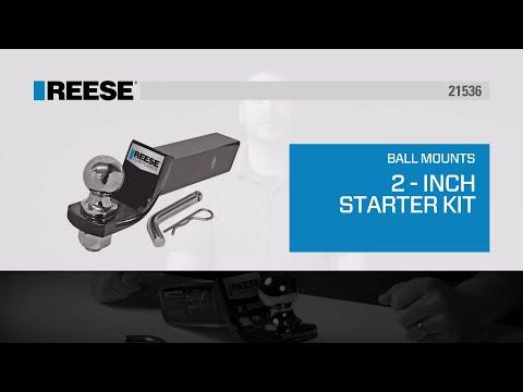 REESE® Trailer Hitch Starter Ball Mount Kit - 21536