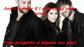 Lady Antebellum-Need You Now Lyrics English/Spanish