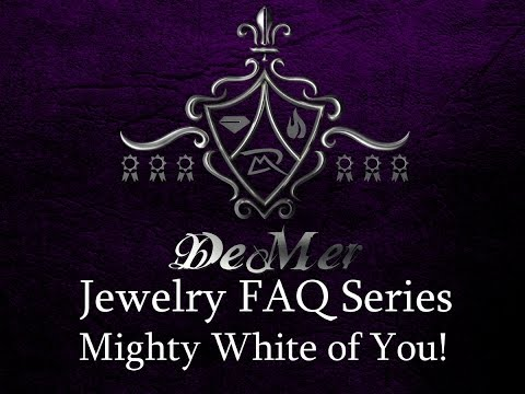 Mighty White of You! White gold versus platinum VS grey gold VS palladium, and Silver!