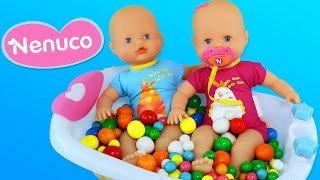 Ball Pit Show Dubble Bubble Gumball Twins Baby Girl Doll Bath Baby