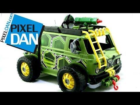 Teenage Mutant Ninja Turtles 2014 Movie Turtle Assault Van Video Review