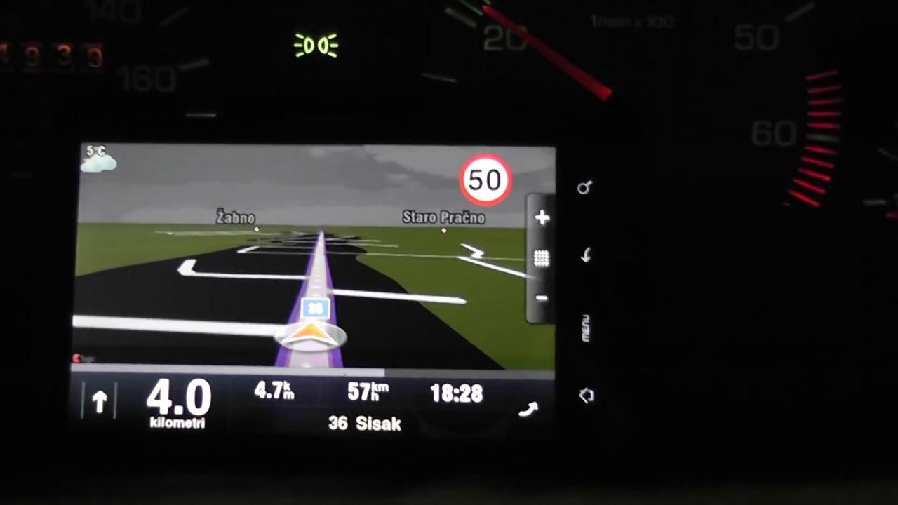 Sygic Aura 3D on HTC Desire HD