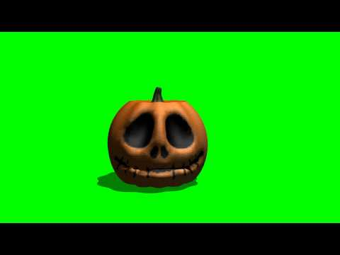 Halloween talking pumpkin green screen A thumbnail