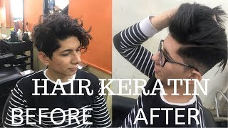 Hair keratin | treatment for damaged  men's hair | hamdan zayyan |