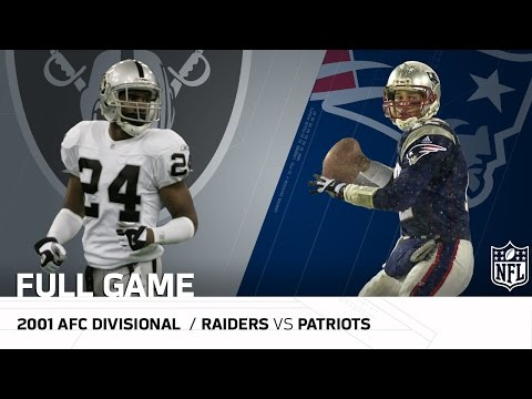 2001 Afc Divisional Round Raiders Vs Patriots Tuck Rule Game