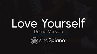 Love Yourself Piano Karaoke Demo Justin Bieber