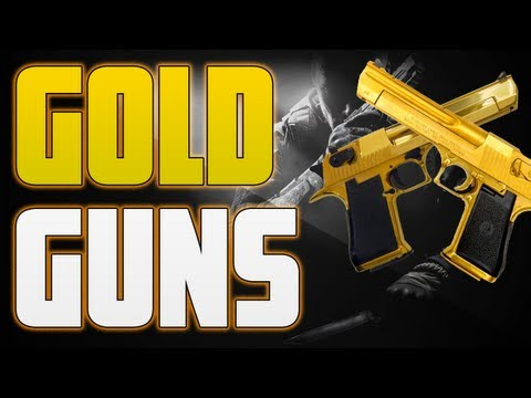 Black Ops 2 - How To Get GOLD Guns/Camo - Fast Gold Camo