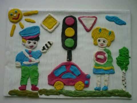 Рисунки и поделки по пдд в детском саду 35
