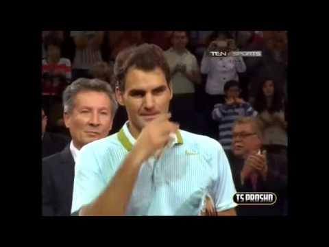 Roger Federer Standing Ovation  Basel 2013