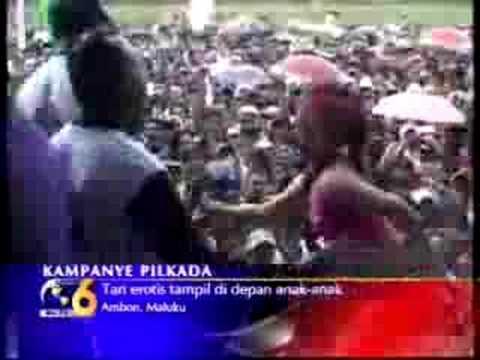Tarian Erotis dalam Kampanye di Maluku