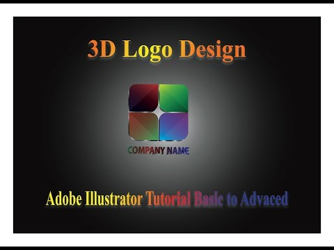 "adobe illustrator tutorial, "" 3D logo design. Creative logo design."
