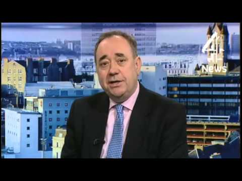 Alex Salmond calmly overpowers C4 presenters barrage of questioning