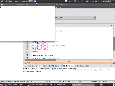 Aprendiendo OpenGL - Tutorial 1 - Hello World