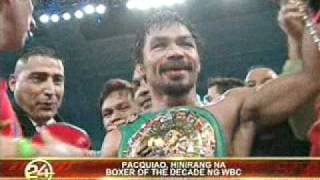 "MANNY PACQUIAO ""FIGHTER OF THE DECADE"" by WBC & RING Magazine - Jan. 5, 2011"