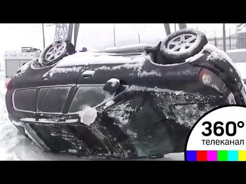 Снегопад столетия спровоцировал сотни ДТП и километровые пробки в Москве