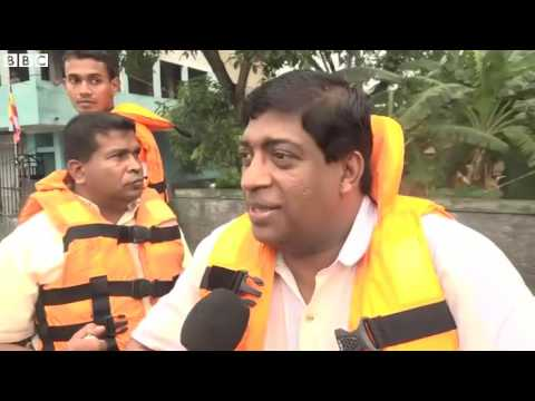 On board Sri Lanka floods rescue boat   BBC News