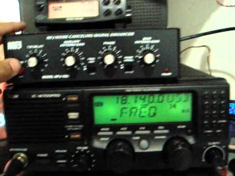 MFJ-1025 Killing the CRT TV Noise in 18 Mhz 17 meter HAM band