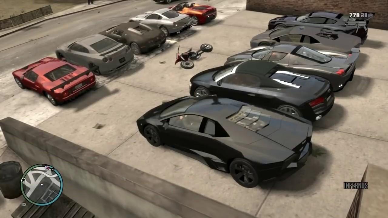 gta 4 modded cars bugatti veyron lamborghini reventon ford gt etc youtube. Black Bedroom Furniture Sets. Home Design Ideas