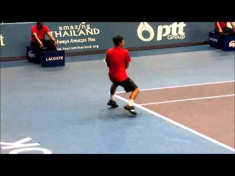 Super Slow Motion Taiwan's Lu Yen-Hsun Return of Serve