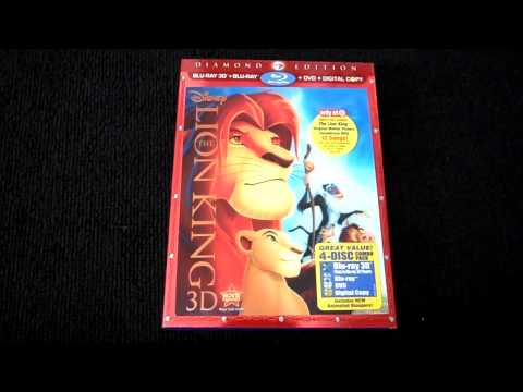 The Lion King: Diamond Edition (3D) Target Exclusive Blu-Ray Review and Unboxing