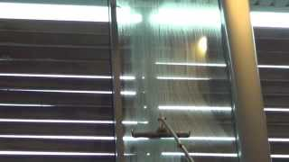 Interior window cleaning commercial premises with Wagtail and Reach-iT Pole