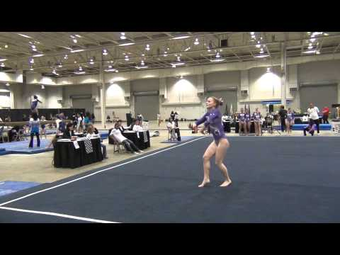 Eileen Malecki - Floor, 6th Place, Region 5 Championships 2012