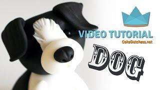 How to make a Border Collie Dog Cake Topper - Cake Decorating Tutorial