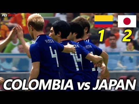 PES 2018 | COLOMBIA vs JAPAN | WORLD CUP 2018 GROUP H | FULL MATCH & GAMEPLAY