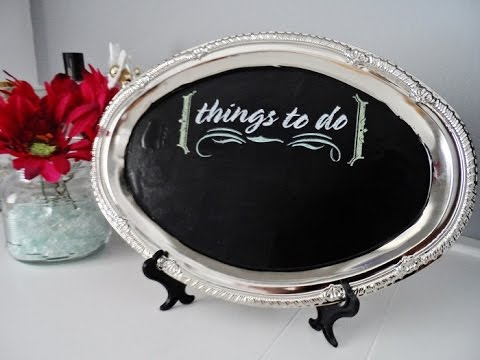 Diy Chalk Board Home Decor Dollar Tree Youtube
