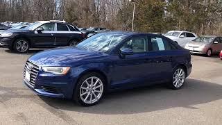 2016 Audi A3 Scuba Blue Metallic