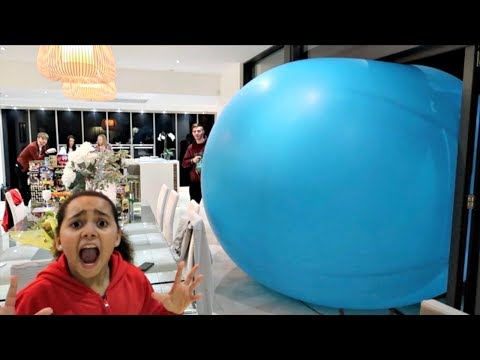 Giant Balloon Surprise Stuck In Our House - Happy New Year 2018