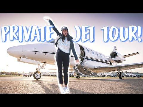 PRIVATE JET TOUR & Party at Paris Hilton's House!! | Jeanine Amapola