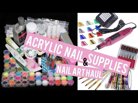 Acrylic Nail Supplies & Nail Art  Haul!! | Doing MY Own Nails at Home!
