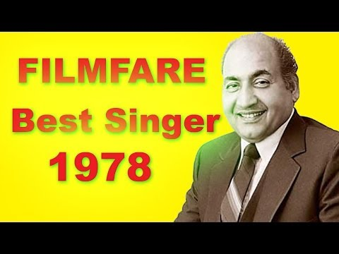 Filmfare Award for Best Male Playback Singer in 1978 - Part...