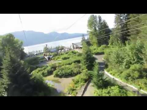 Riding the ZipRider at Icy Strait Point, Alaska