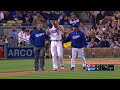 CIN@LAD: Seager gets hit on the knee, stays in game