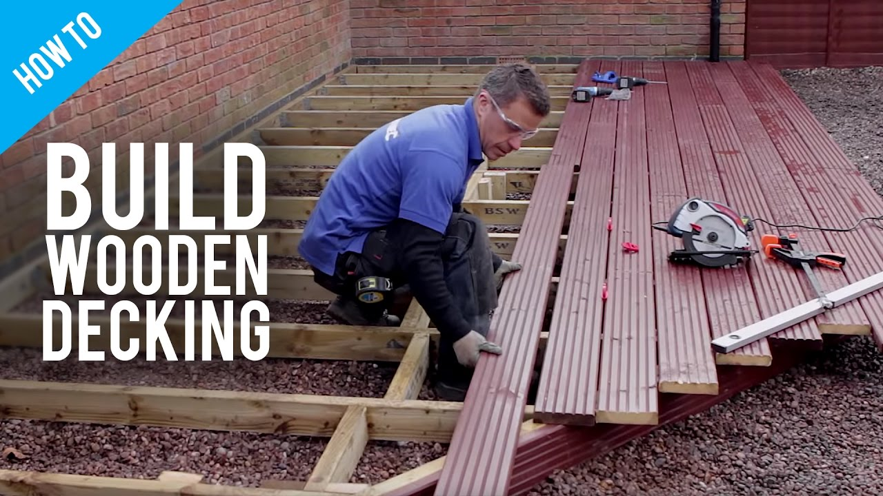how to build lay timber decking youtube. Black Bedroom Furniture Sets. Home Design Ideas