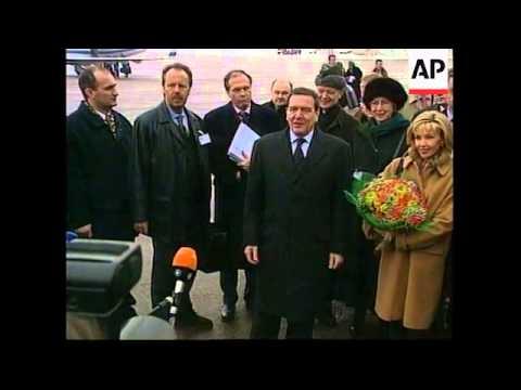 RUSSIA: GERHARD SCHROEDER VISIT