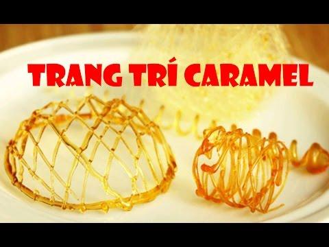 [BÁNH FLAN] đun Caramen trang trí Bánh Flan từ đường Простые  украшения из карамели #trangtríbánh