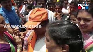 Shobha Karandlaje Dances With BJP Workers In Chikkamagaluru