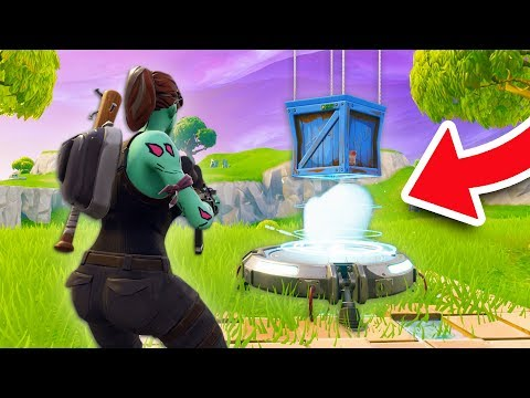 WHAT HAPPENS IF A SUPPLY DROP LANDS ON A LAUNCH PAD??   Fortnite Battle Royale