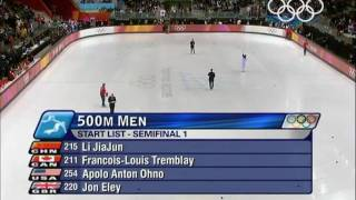 Short Track Speed Skating - Men's 500M - Turin 2006 Winter Olympic Games