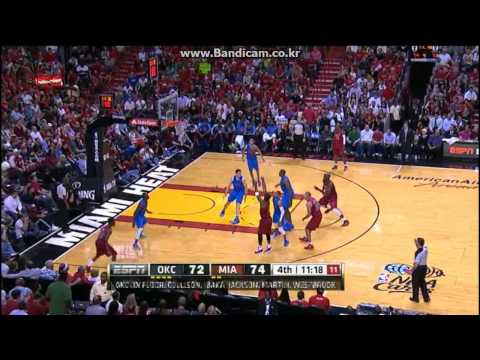 LeBron James(29Pts) Wade&Chalmers(21Pts&20Pts) vs Thunder (2012.12.25)