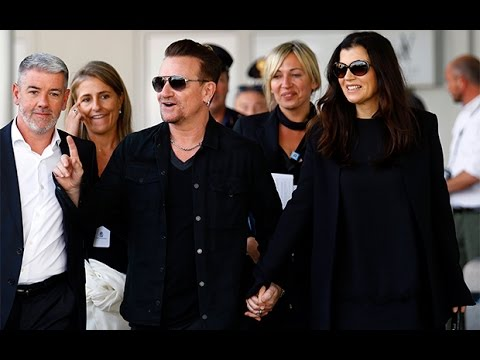 U2 singer Bono arrives for George Clooney's wedding