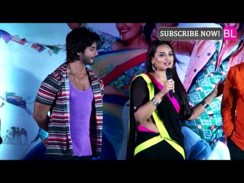 Shahid Kapoor And Sonakshi Sinha At R Rajkumar Music Launch video