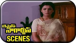 Onamalu - Manam Nagarjuna - Captain Nagarjuna Movie Scenes - Rajendra Prasad tells Nagarjuna about Kushboo