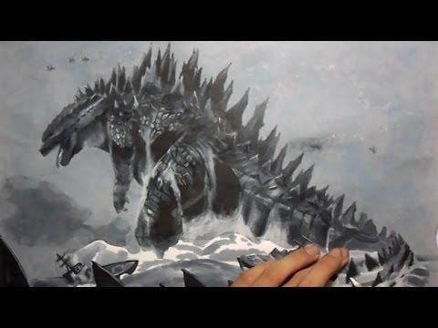 drawing godzilla youtube